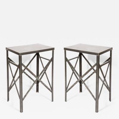 Pair of Steel Tables