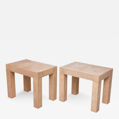 Pair of Stingray Geometric End Tables