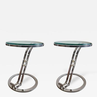 Pair of Streamline Occational Tables