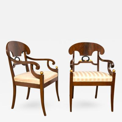 Pair of Swedish Biedermeier Armchairs