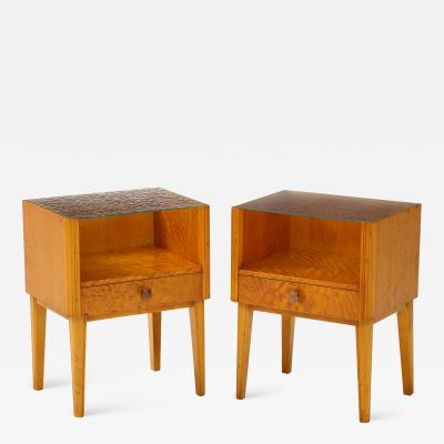 Pair of Swedish Biedermeier Nightstands