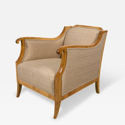 Pair of Swedish Biedermeier Style Chairs Early 20th Century
