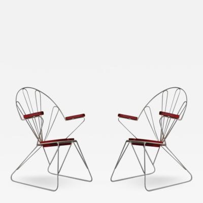 Pair of Swedish Garden Chairs