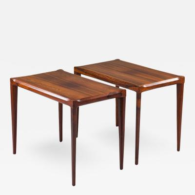 Pair of Swedish Midcentury Side Tables in Rosewood