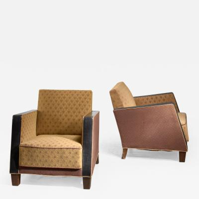 Pair of Swedish club chairs 1930s