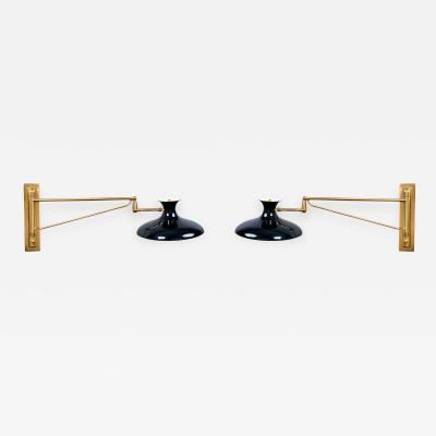 Pair of Swing Arm Sconces Italy 1950s