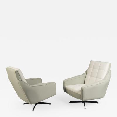 Pair of Swivel Chairs Italy 1970s