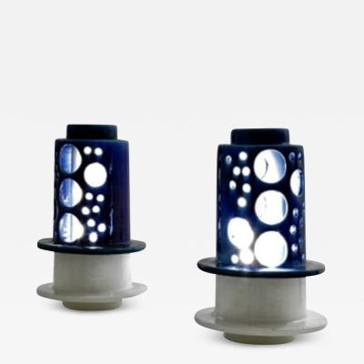Pair of Table Lamp in Ceramic