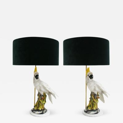 Pair of Table Lamps Type Capodimonte