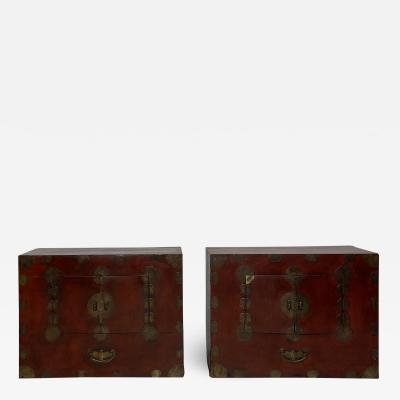 Pair of Tansu Korea Circa 1890