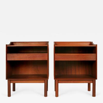 Pair of Teak Nightstands by Peter Hvidt and Olga M lgaard for S borg M belfabrik