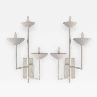 Pair of Three Armed Sconces