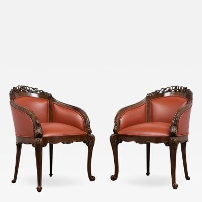 Pair of Traditional 19th Century Chinoiserie Style Bergeres