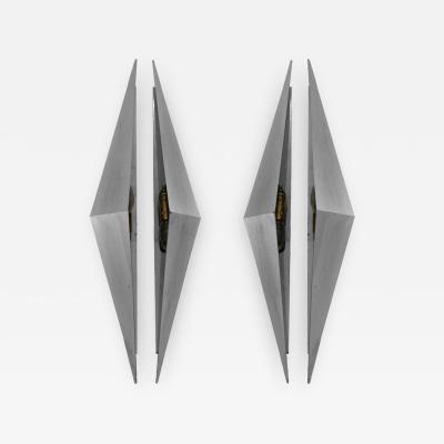 Pair of Triangular Sconces