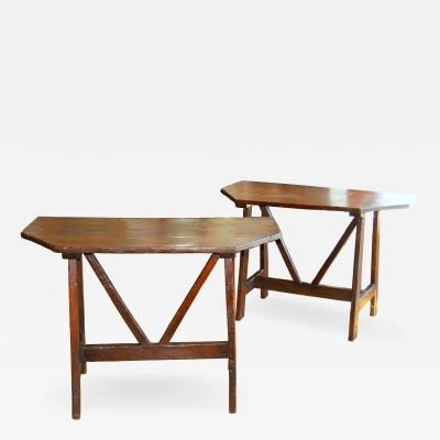 Pair of Tuscan Farm Tables 19th c