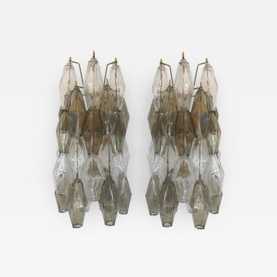 Pair of Two Tone Murano Glass Wall Sconces