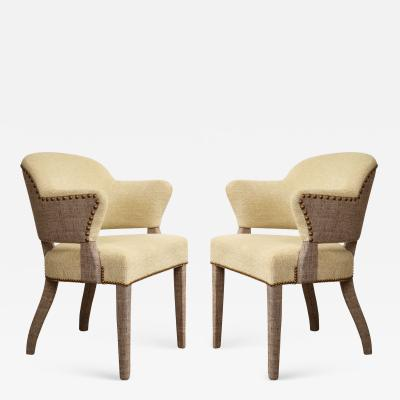 Pair of Upholstered Art Deco Chairs