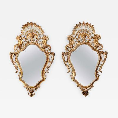 Pair of Venetian Giltwood Mirrors