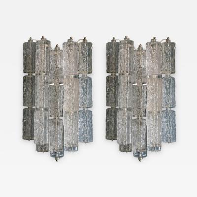 Pair of Venini Murano Glasss Sconces