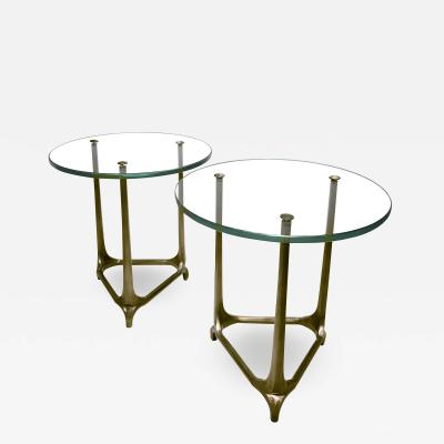 Pair of Vienna Secession side tables.