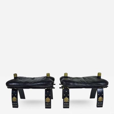 Pair of Vintage Camel Stools