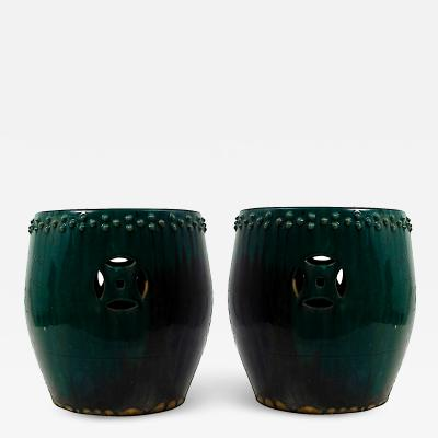 Pair of Vintage Chinese Garden Stools