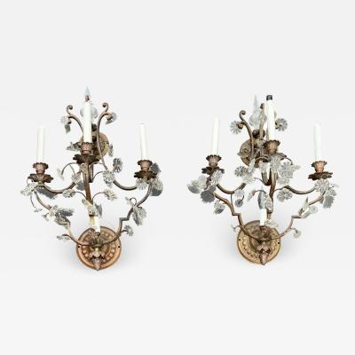 Pair of Vintage French Louis XVI Style Sconces a Pair