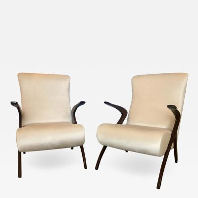 Pair of Vintage Italian Arm Chairs