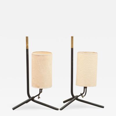 Pair of Vintage Tripod Lamps
