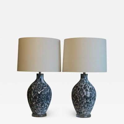 Pair of Volcano Fantoni Influence Table Lamps