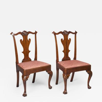 Pair of Walnut Queen Anne Side Chairs