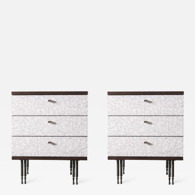 Pair of Wheeler Nightstands Designed Made by Andy Messenger