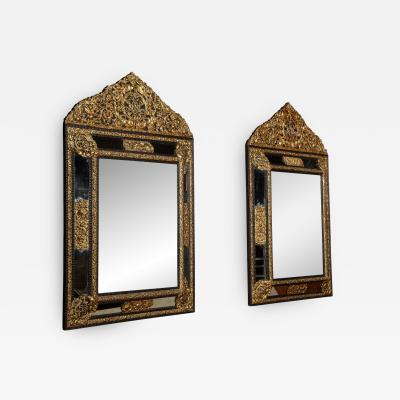 Pair of William Mary Style Repousse Mirrors