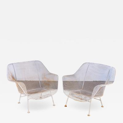 Pair of Woodard Sculptura Garden Lounge Chairs