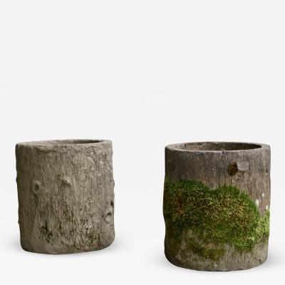 Pair of concrete planters