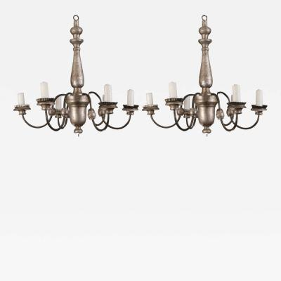 Pair of early 18th century chandeliers