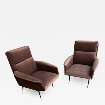 Pair of elegant Arm chairs Italy circa 1955
