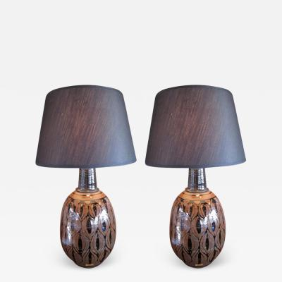 Pair of lamps by Wishon Harrell