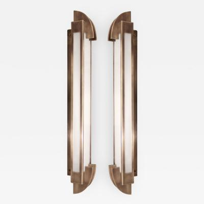 Pair of large Art Deco sconces