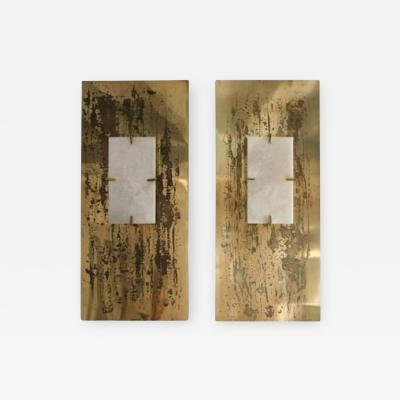 Pair of large sconces Aquafortis Limited edition