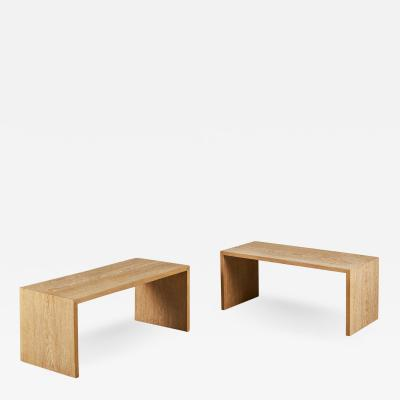 Pair of low tables by Comte as an interpretation or Jean Michel Franks design