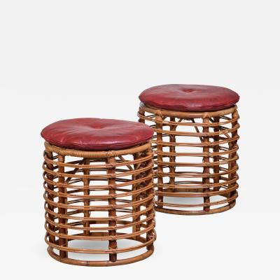 Pair of wicker stools Italy