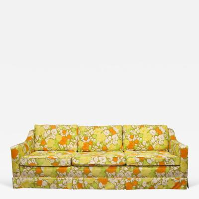 Palm Beach Sofa with Original Floral Cotton Upholstery