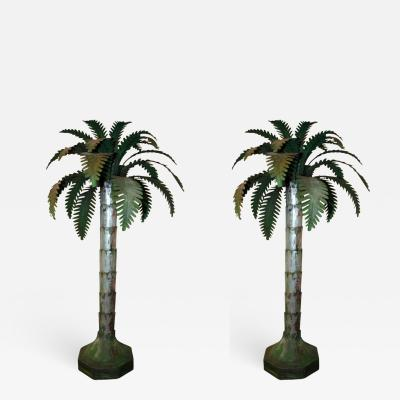 Palm Tree Tole Table Lamps
