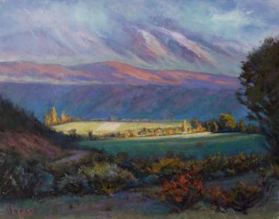 Pamela Ingwers Rain Across the Valley