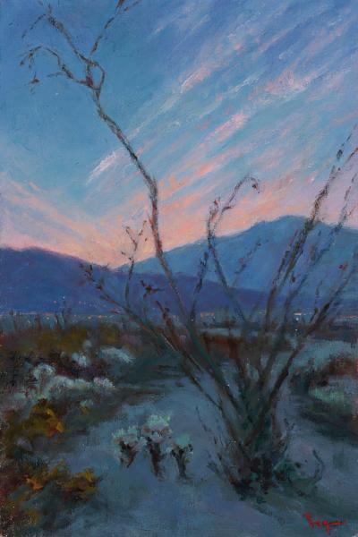 Pamela Ingwers The Desert at Dusk