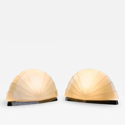 Paola Nava Pair of Flores Table Lamps by P Nava for Leucos