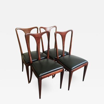 Paolo Buffa 1950s Set of 4 2 Paolo Buffa Dining Chairs