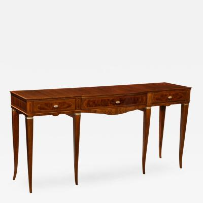 Paolo Buffa 3 Drawer Console Table by Paolo Buffa