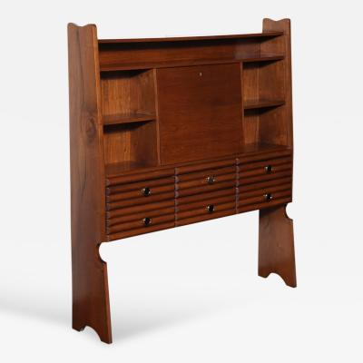 Paolo Buffa Bookcase with Drop Front Desk by Paolo Buffa